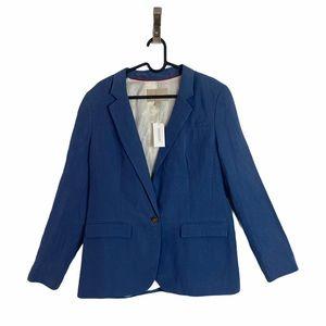 NWT Banana Republic Blue Silk Blend Button Blazer
